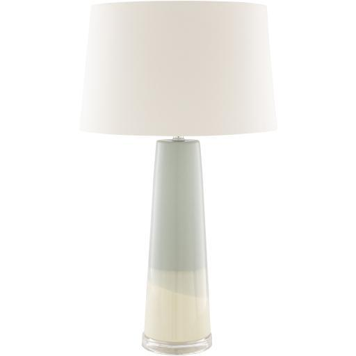 Bonny Pale Blue Cream Glazed Ceramic Table Lamp