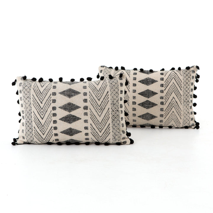 Willow FADED BLOCK PRINT PILLOW, SET OF 2 - 16 X 24 | Pillow | parker-gwen