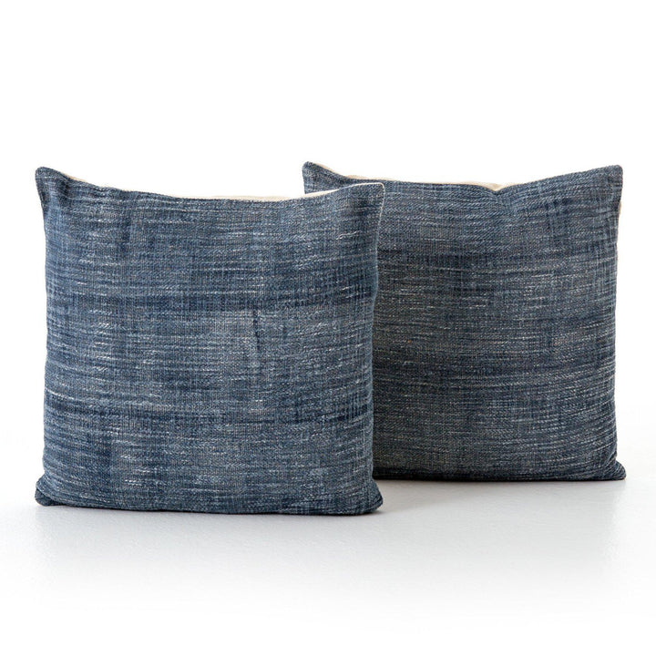 "Willow FADED BLUE HAZE PILLOW, SET OF 2 - 20""-Pillow-Parker Gwen"