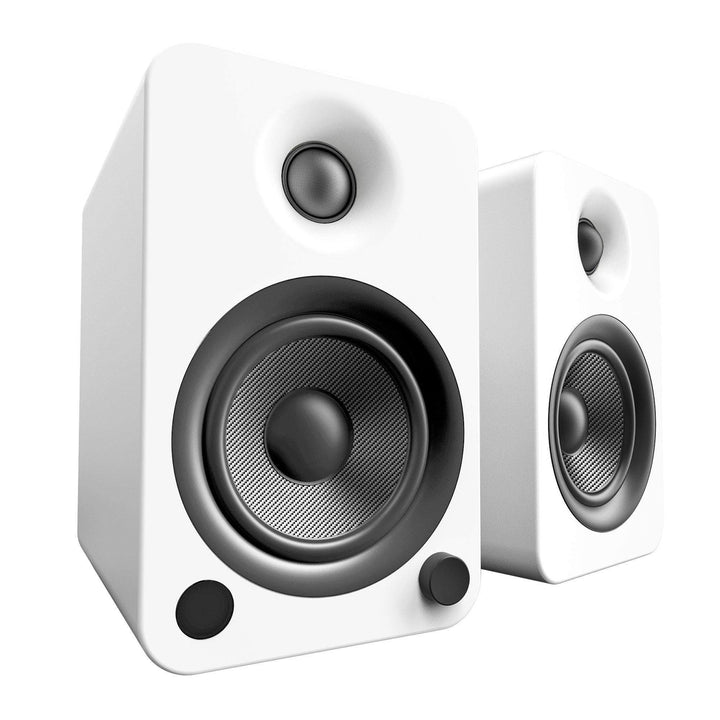 Kanto YU4 Powered Speakers with Bluetooth® and Phono Preamp (Matte White) - Parker Gwen