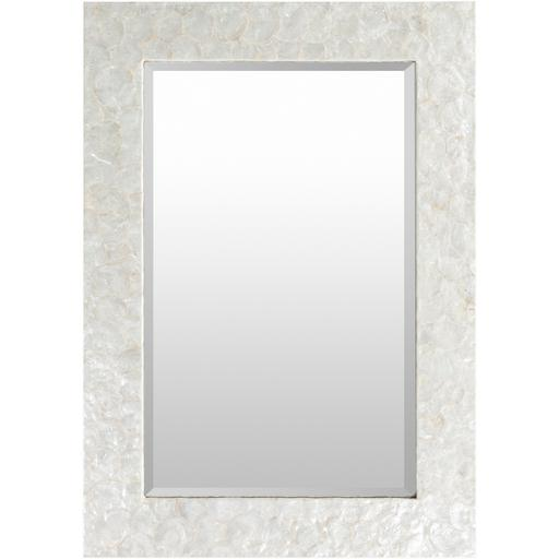 "Whitaker 28"" x 40"" Mother of Pearl Wall Mirror"
