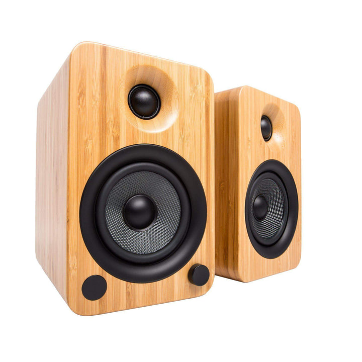 Kanto YU4 Powered Speakers with Bluetooth® and Phono Preamp (Bamboo) - Parker Gwen