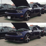 Mustang with Retractable License Plates, show and go plates by 510 auto group