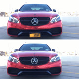 Mercedes E63 with Retractable License Plates, show and go plates by 510 auto group