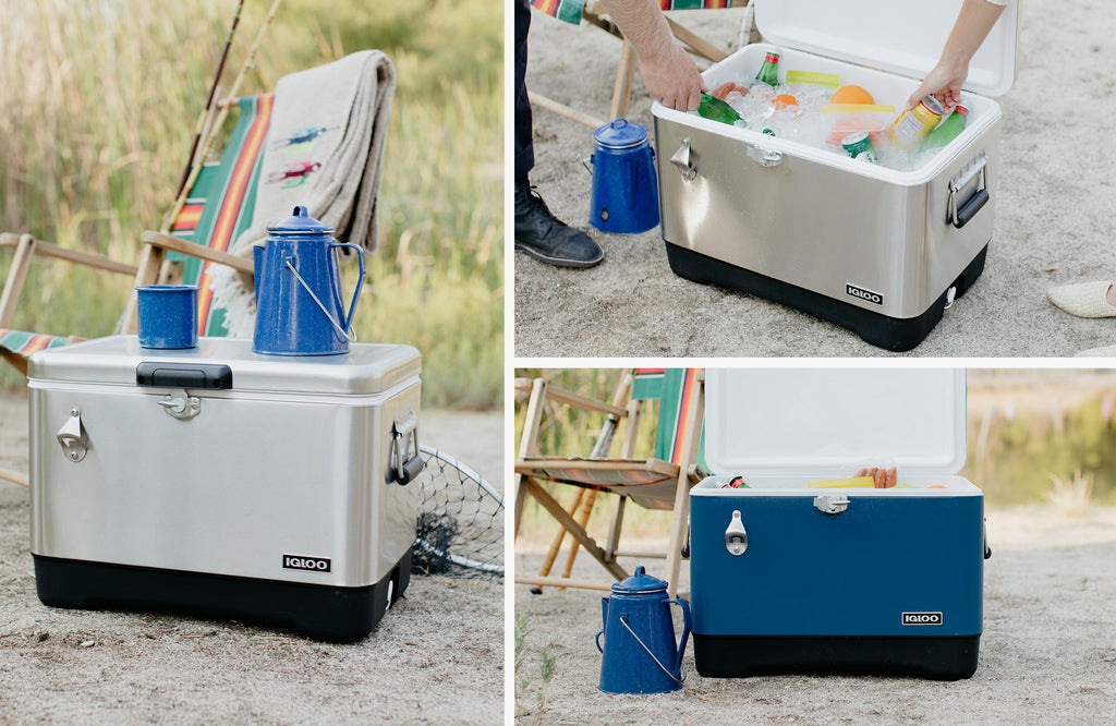 Legacy Cooler - Stainless Steel and Blue