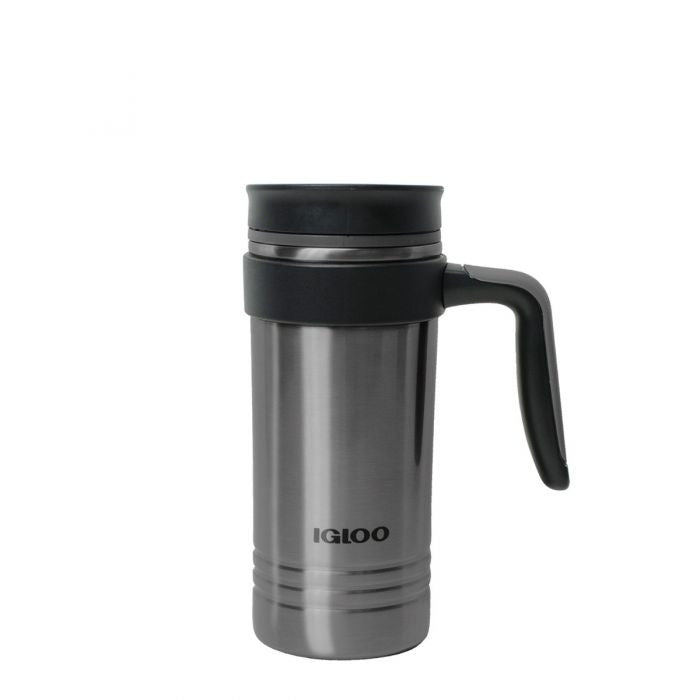 Large View | Isabel 16 Oz Insulated Stainless Steel Travel Coffee Mug With Handle in  at Igloo Hydration Water Bottles