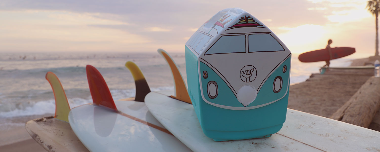 Kevin Butler RAD Bus in Aqua