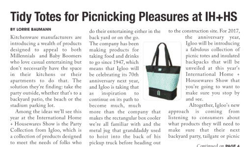 Tidy Totes for Picknicking Pleasures at IH+HS