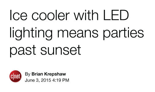 Ice Cooler with LED Lighting means parties past sunset