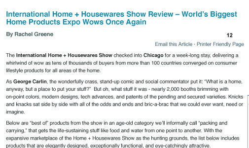 Inertnational Home + Housewares Show