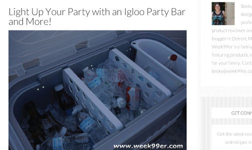 Light Up Your party with an Igloo Party Bar and More!