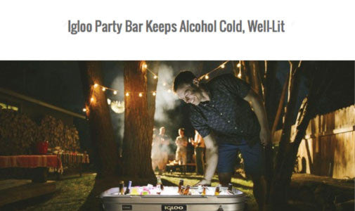 Igloo Party Bar Keeps Alcohol Cold, Well-Lit by Refined Guy