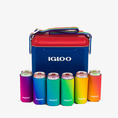 Cooler View | Igloo Slim Can Cooler 6 Pack