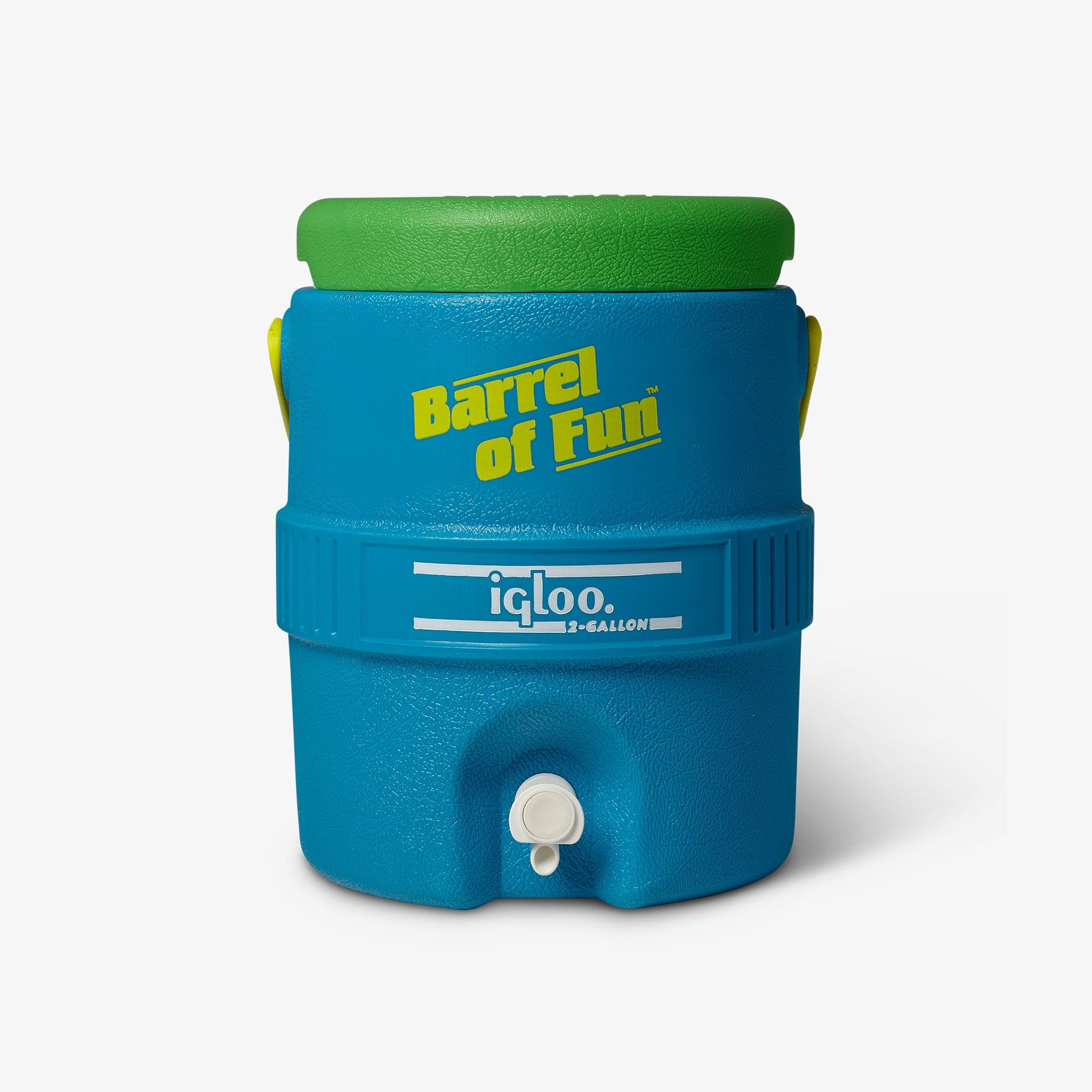 Large View | Barrel of Fun 2 Gallon Jug::Fiesta Blue