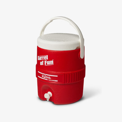 Handle View | Retro Barrel of Fun 2 Gallon Jug