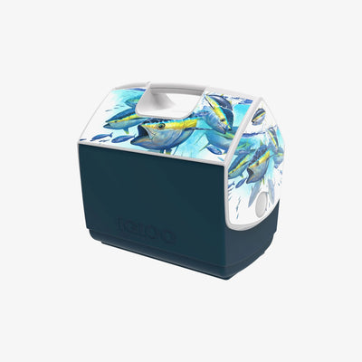Angle View | Amadeo Bachar Playmate Elite Yellowfin Foamer 16 Qt Cooler