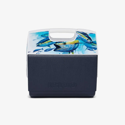 Back View | Amadeo Bachar Playmate Elite Yellowfin Foamer 16 Qt Cooler