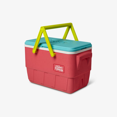 Angle View | Retro Limited Edition Picnic Basket 25 Qt Cooler