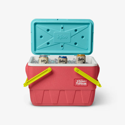 Open View | Retro Limited Edition Picnic Basket 25 Qt Cooler