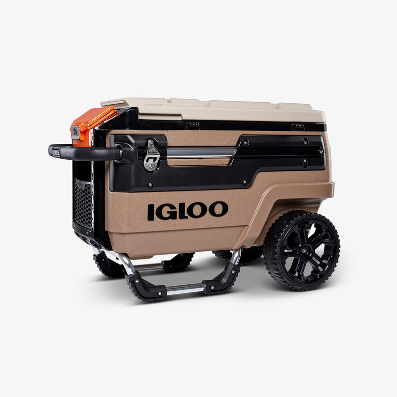 Front View | Trailmate Journey 70 Qt Cooler::Canyon Brown/Riverbed Tan