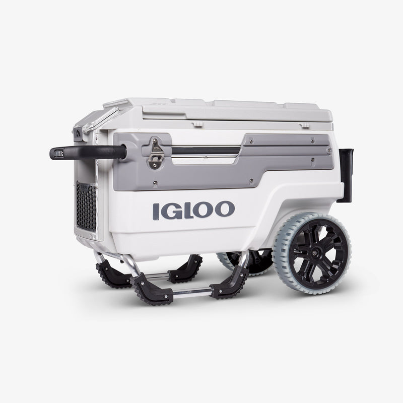 Side View | Igloo Trailmate Marine 70 Qt Cooler::White/Gray