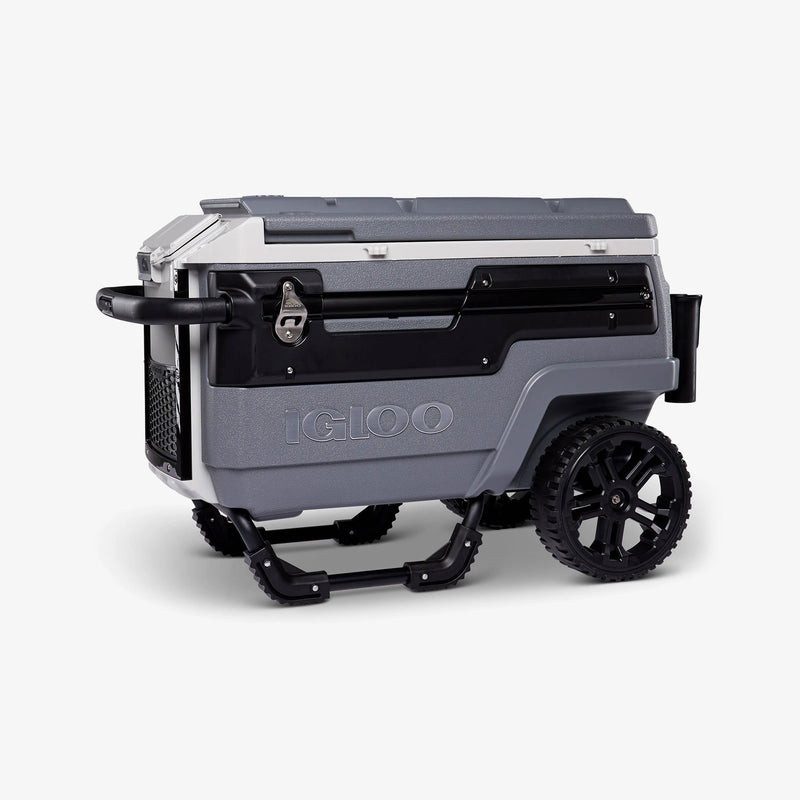 Front View | Trailmate Journey 70 Qt Cooler::Gray/Black