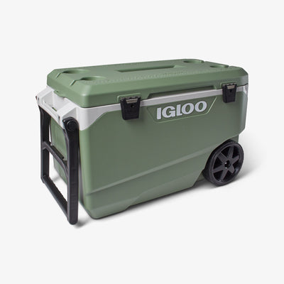 Angle View | ECOCOOL Latitude 90 Qt Roller Cooler