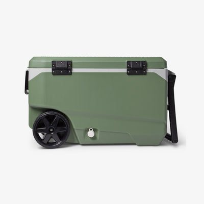 Back View | ECOCOOL Latitude 90 Qt Roller Cooler