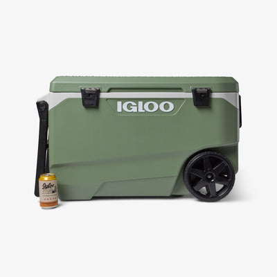 Size View | ECOCOOL Latitude 90 Qt Roller Cooler