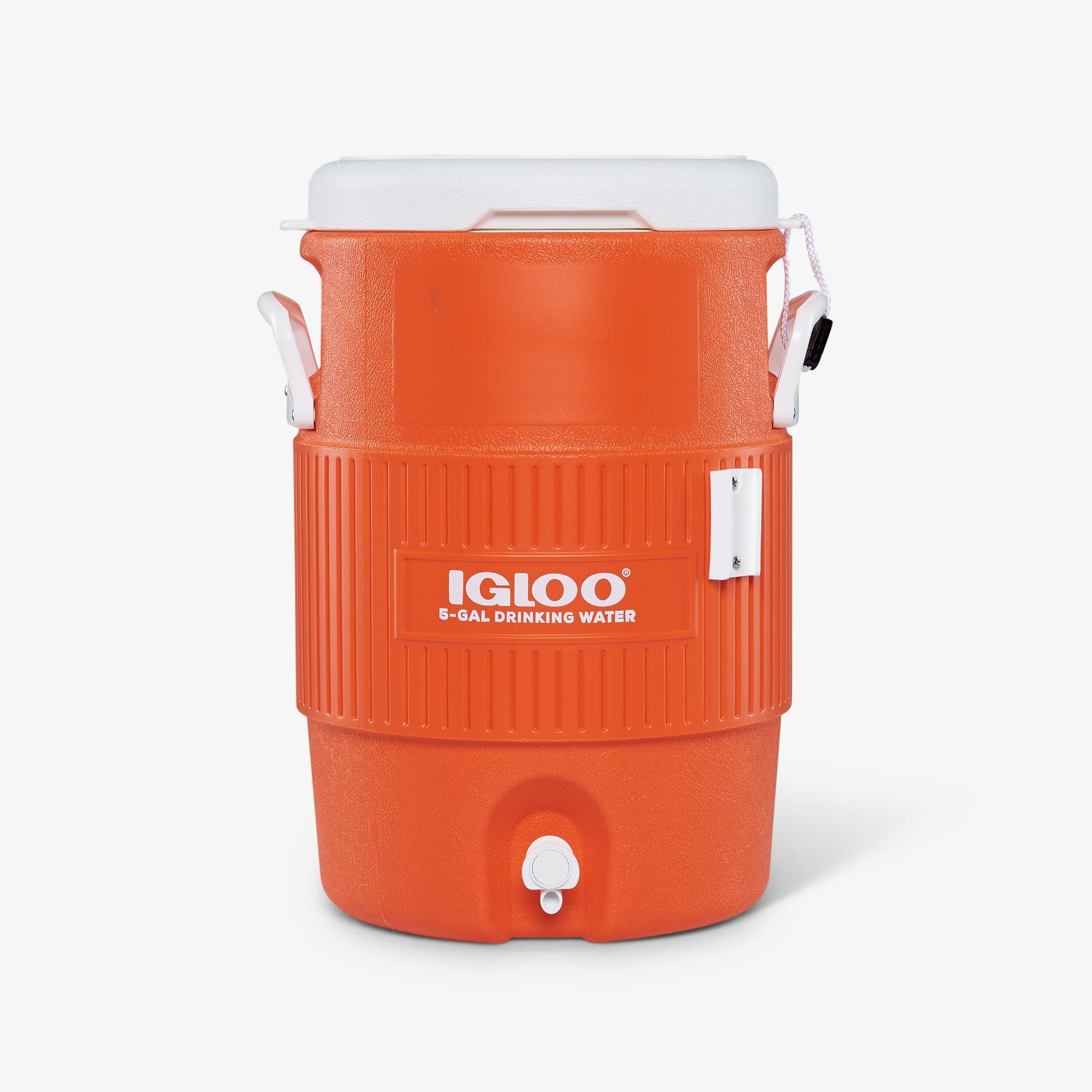 Igloo Water Jugs | 5 Gallon Seat Top Water Jug Without Cup Dispenser in Orange