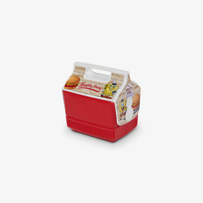 Angle View | Spongebob Playmate Mini Limited Edition Krabby Patty  4 Qt Cooler