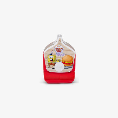 Side View | Spongebob Playmate Mini Limited Edition Krabby Patty  4 Qt Cooler