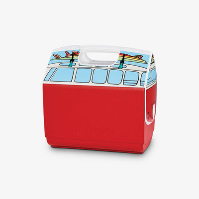Angle View | VW Red Van Playmate Elite Special Edition 16 Qt Cooler