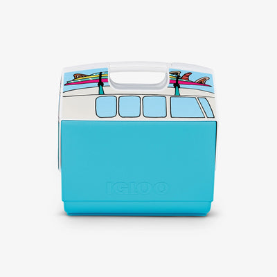 Back View | VW Teal Van Playmate Elite Special Edition 16 Qt Cooler