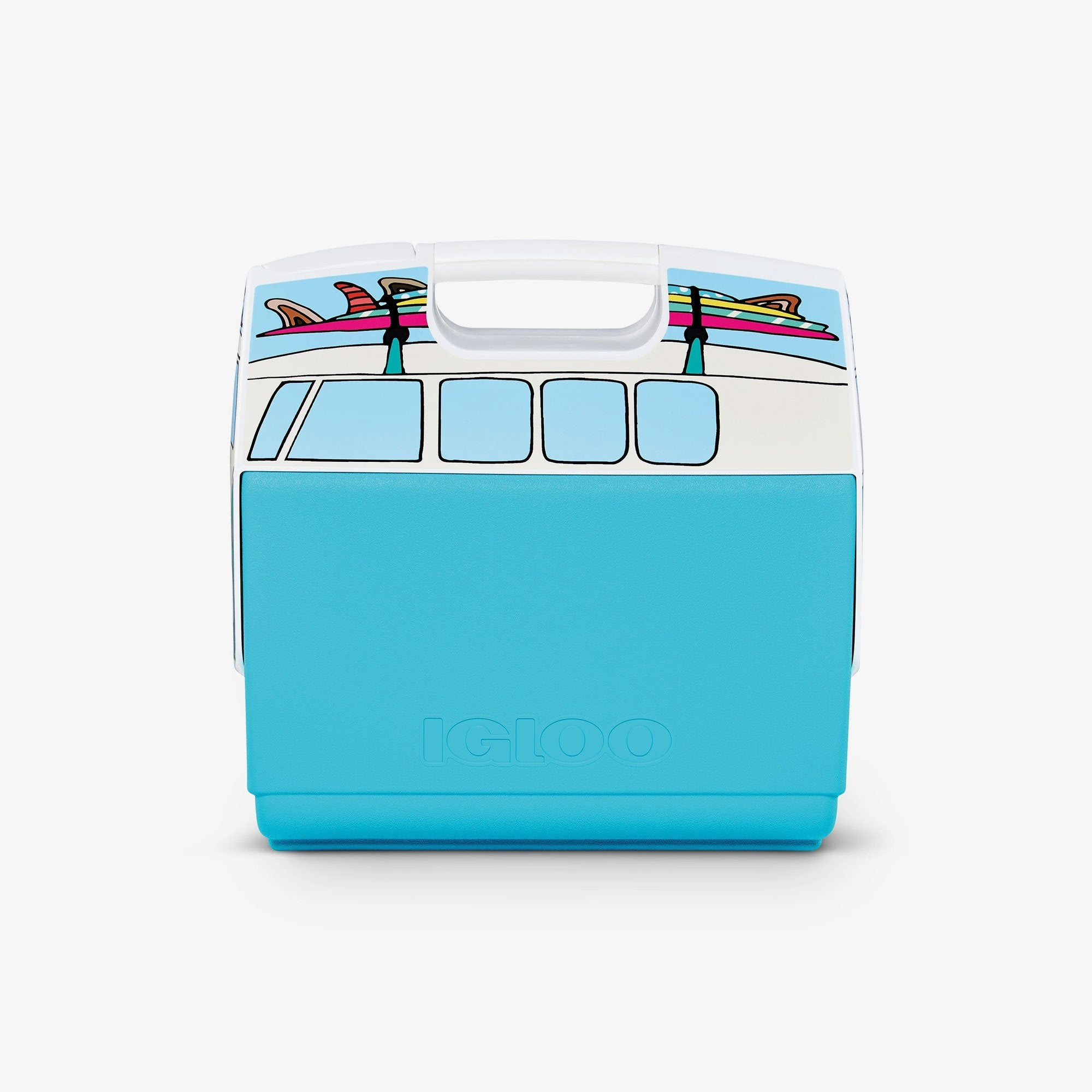 Large View | VW Teal Van Playmate Elite Special Edition 16 Qt Cooler