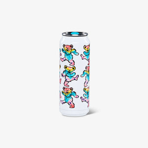 Large View | Grateful Dead Dancing Bears 16 Oz Stainless Steel Can
