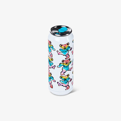 Angle View | Grateful Dead Dancing Bears 16 Oz Stainless Steel Can