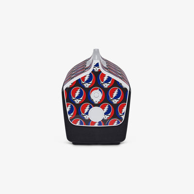 Side View | Grateful Dead Steal Your Face Playmate Classic 14 Qt Cooler