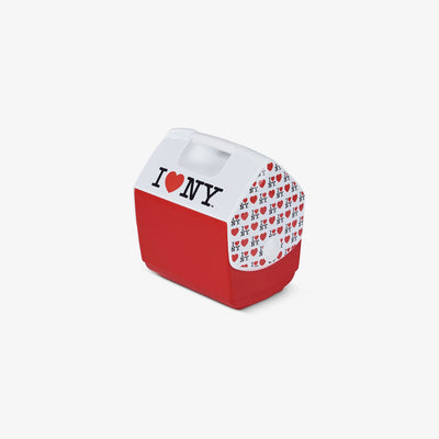 Angle View | I Love NY Playmate Pal Special Edition Red 7 Qt Cooler