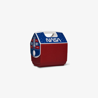 Angle View | NASA Worm Logo Playmate Pal 7 Qt Cooler