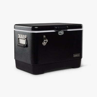 Angle View | Legacy Stainless Steel 54 Qt Cooler