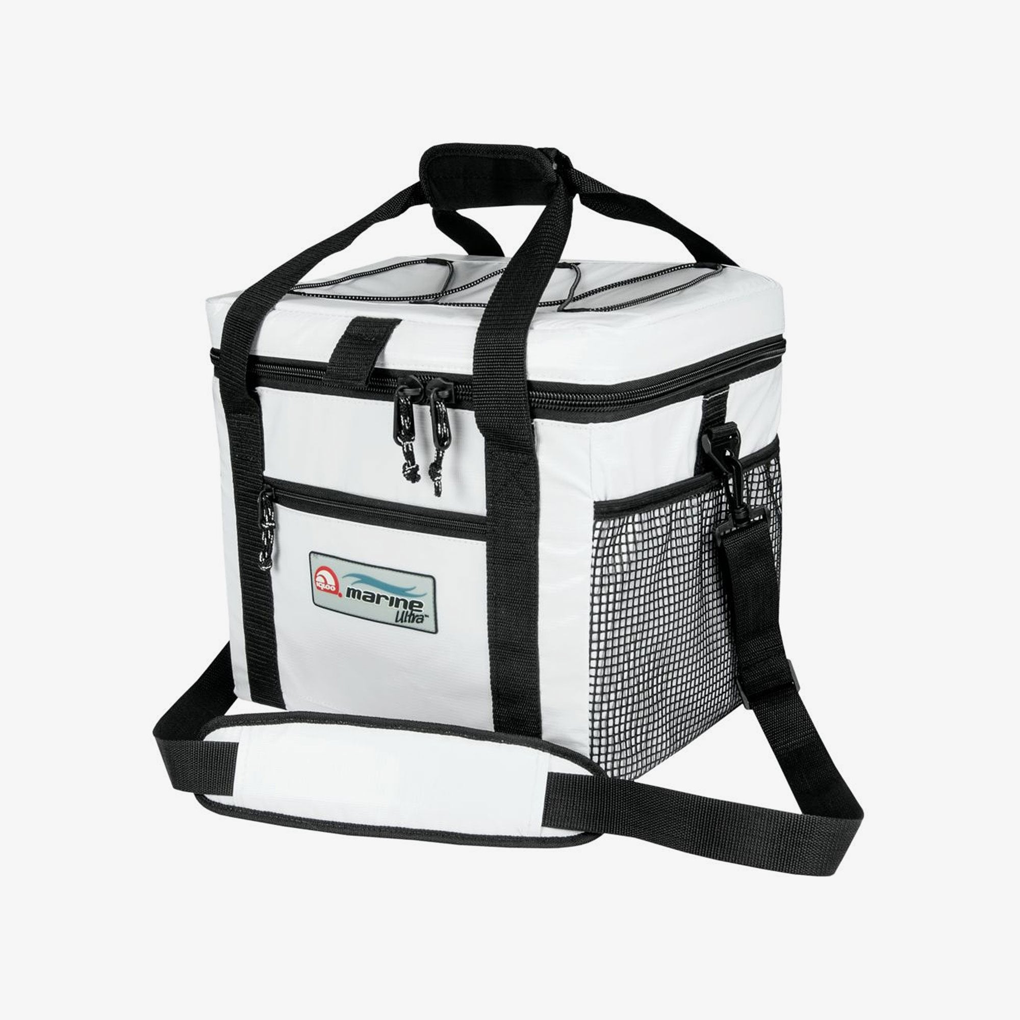 Igloo Cooler Bags | Marine Ultra 24-Can Square Cooler Bag in White, Black