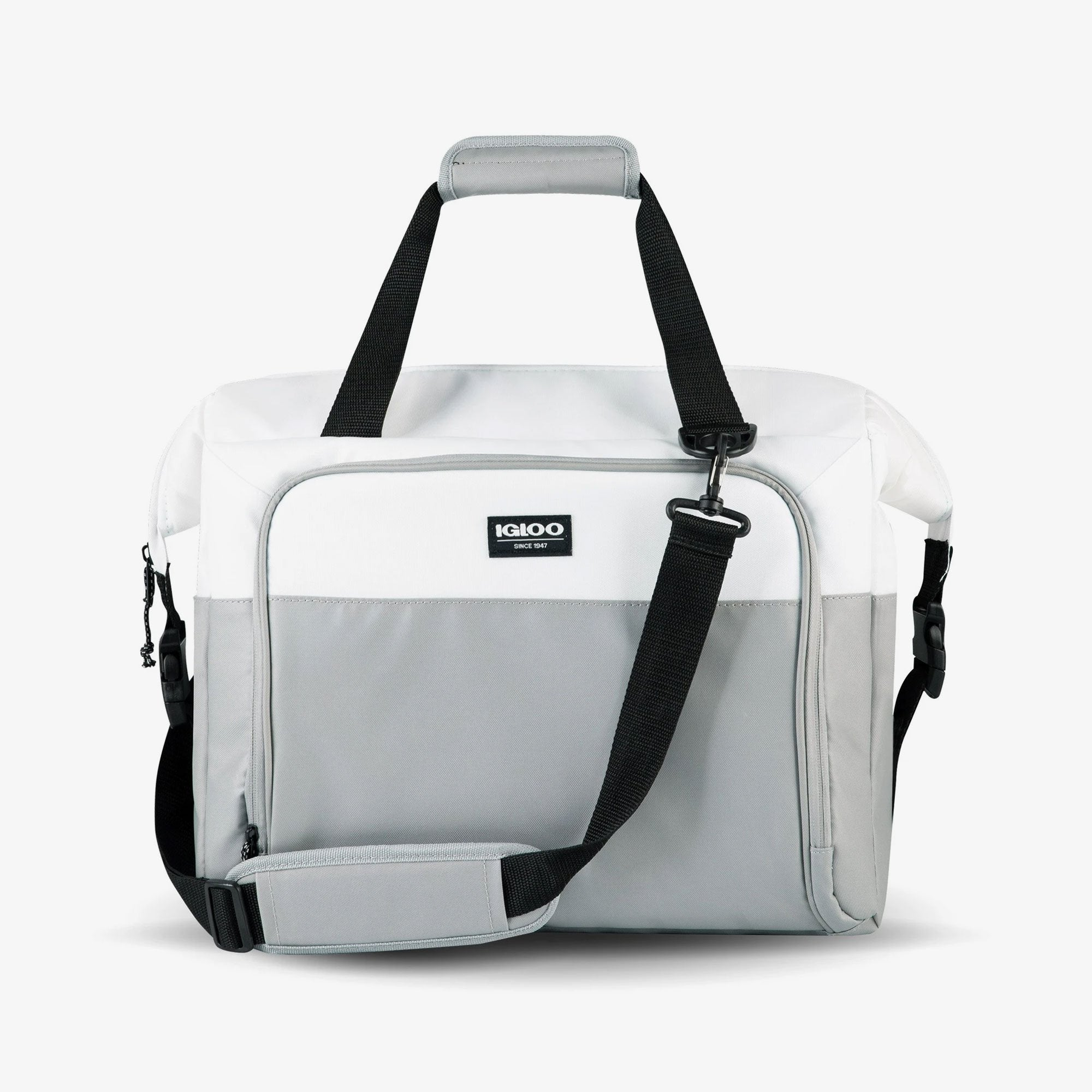Large View | Seadrift Snapdown 36-Can Bag in White/Gray