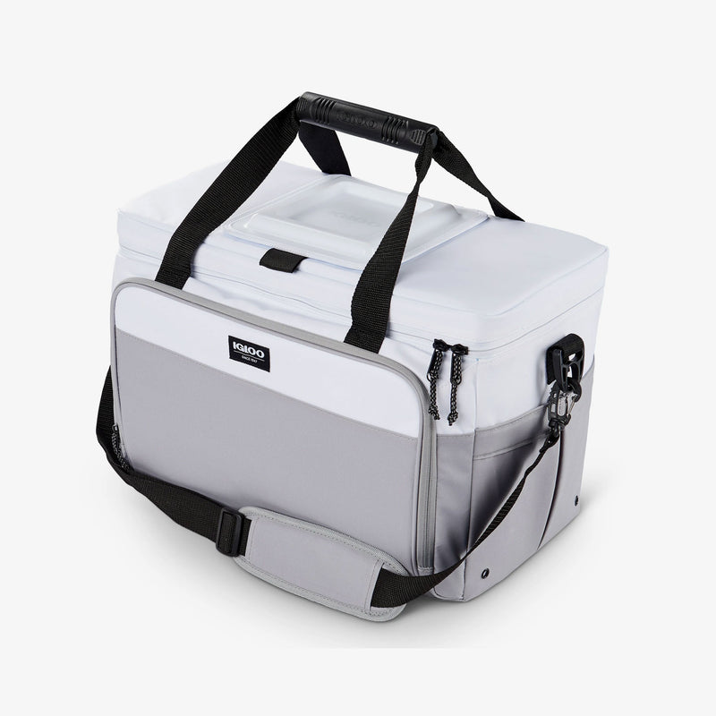 Angle View | Seadrift Coast Cooler 36-Can Bag::White/Gray