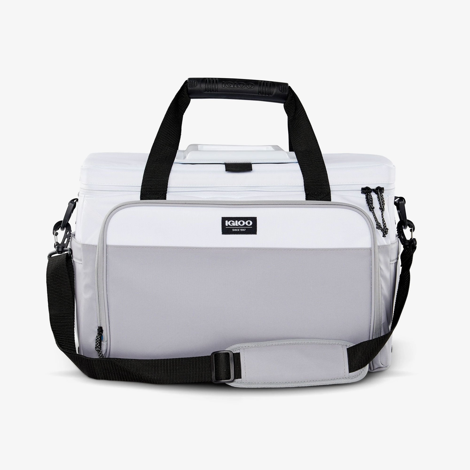 Large View | Seadrift Coast Cooler 36-Can Bag in White/Gray