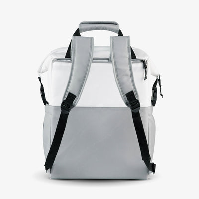 Back View | Seadrift Switch 30-Can Backpack in White/Gray