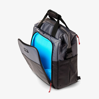 Front Pouch View | Seadrift Switch 30-Can Backpack