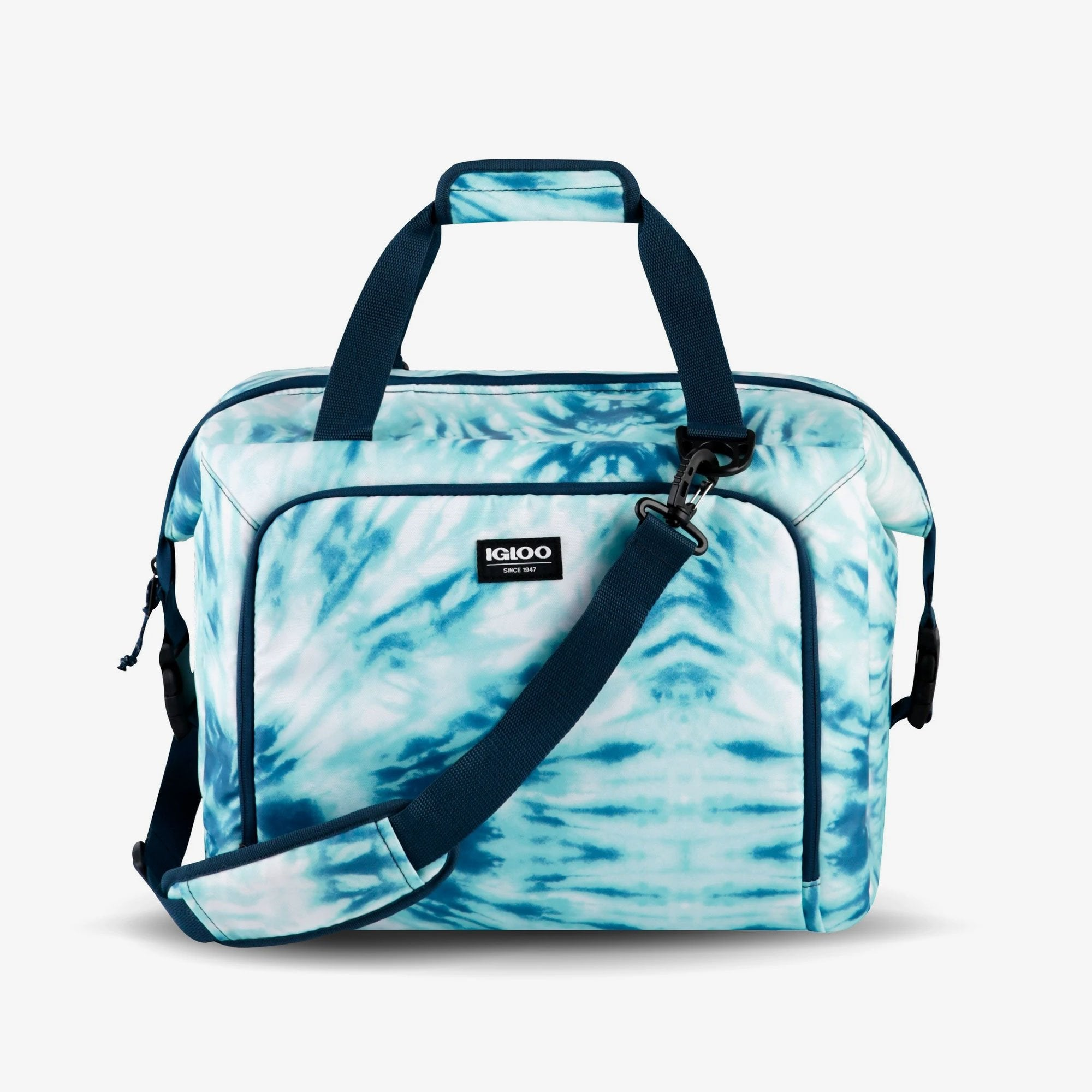 Large View | Seadrift Snapdown 36-Can Bag in Blue Tie-Dye