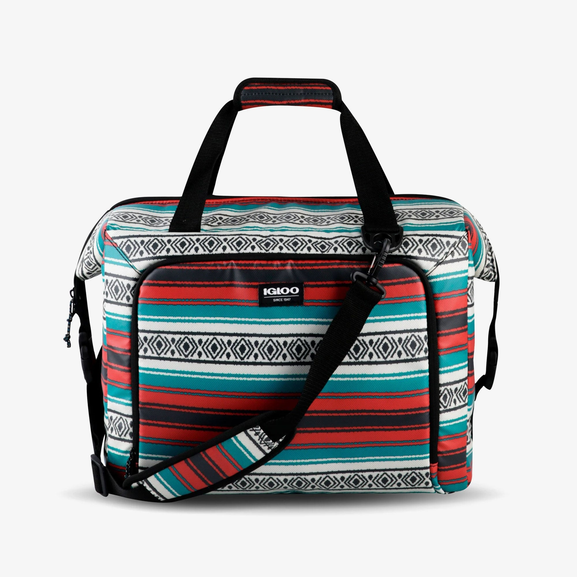 Large View | Seadrift Snapdown 36-Can Bag::Blanket Stripes
