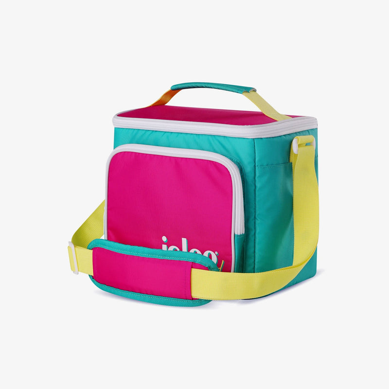 Angle View | Retro Square Lunch Bag::Jade
